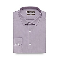St George by Duffer - Big and tall lilac fine stripe slim fit shirt