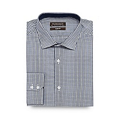 St George by Duffer - Blue textured gingham shirt