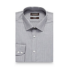 St George by Duffer - Grey striped slim shirt
