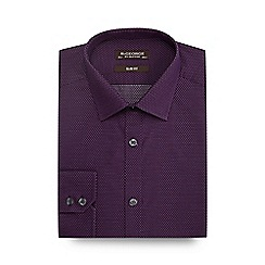 St George by Duffer - Purple stitched dots slim shirt