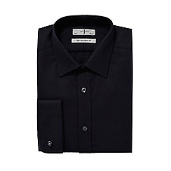 J by Jasper Conran - Big and tall black diagonal twill tailored fit shirt