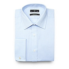 J by Jasper Conran - Big and tall light blue textured cotton tailored fit shirt