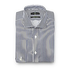 J by Jasper Conran - Big and tall navy striped cotton tailored fit shirt