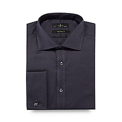 J by Jasper Conran - Big and tall grey herringbone tailored shirt