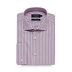 Osborne - Big and tall lilac striped tailored shirt