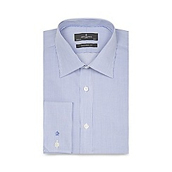 Jeff Banks - Big and tall blue fine striped extra long tailored shirt