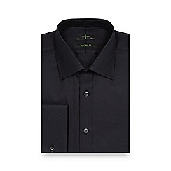 J by Jasper Conran - Black heavy twill extra long tailored shirt