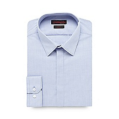 Red Herring - Light blue checked extra long slim shirt
