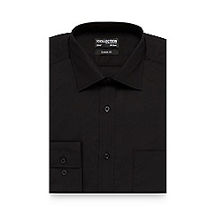 The Collection - Black regular fit shirt with extra-long sleeves and body