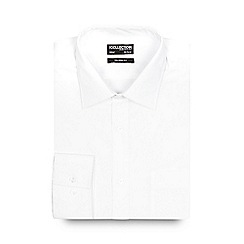 The Collection - Big and tall white long sleeved tailored fit shirt