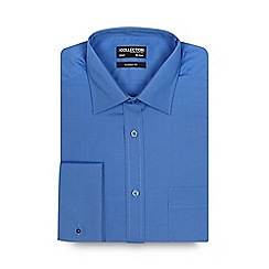 The Collection - Big and tall blue plain regular fit shirt