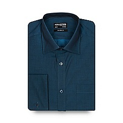 The Collection - Big and tall dark turquoise tonic plain tailored shirt