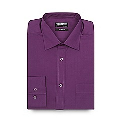 The Collection - Big and tall purple plain tailored shirt