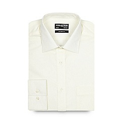 The Collection - Big and tall cream plain tailored shirt