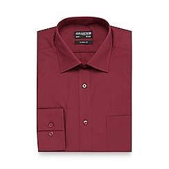 The Collection - Big and tall maroon regular fit shirt