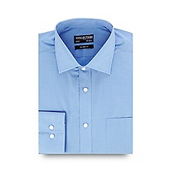The Collection - Big and tall blue long sleeve tailored formal shirt