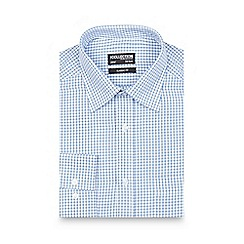 The Collection - Big and tall blue checked print regular fit shirt