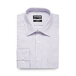 The Collection - Big and tall lilac outline checked formal shirt