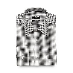 The Collection - Big and tall grey outline checked formal shirt