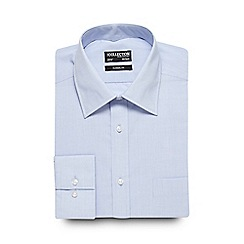 The Collection - Big and tall light blue puppytooth print formal shirt