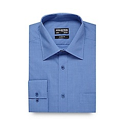 The Collection - Big and tall blue pow checked formal shirt
