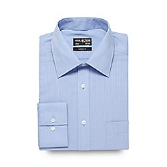 The Collection - Big and tall light blue striped print formal shirt