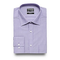 The Collection - Big and tall purple striped regular fit shirt