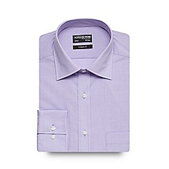 The Collection - Big and tall lilac fine stripe shirt