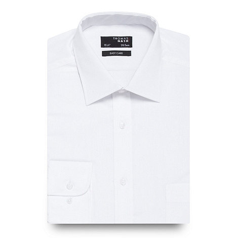 Thomas Nash - White shirt with extra-long sleeves and body