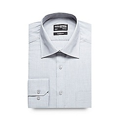 The Collection - Big and tall light grey textured regular fit shirt