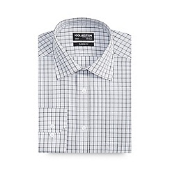 The Collection - Grey overcheck long sleeve shirt