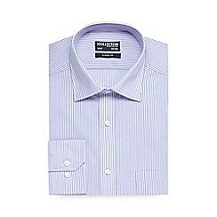 The Collection - Big and tall lilac long sleeve shirt