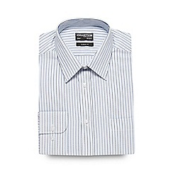 The Collection - Big and tall light blue textured striped formal shirt