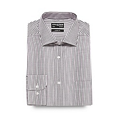 The Collection - Big and tall wine breton striped formal shirt