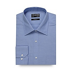 The Collection - Big and tall blue textured oxford shirt