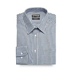 The Collection - Big and tall blue textured gingham formal shirt