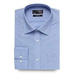 Thomas Nash - Big and tall blue fine textured shirt