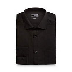The Collection - Black striped regular fit shirt