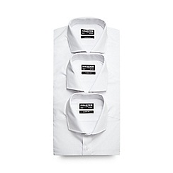 The Collection - Big and tall pack of three white long sleeve formal shirts