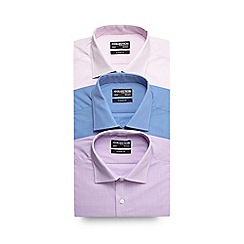 The Collection - Big and tall pack of three assorted puppytooth formal shirts