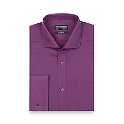 The Collection - Big and tall purple regular fit long sleeved shirt