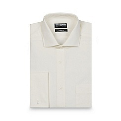 The Collection - Cream regular fit long sleeved shirt