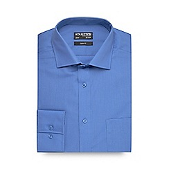 The Collection - Big and tall blue slim fit long sleeve formal shirt