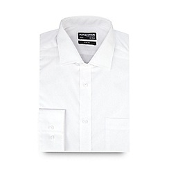 The Collection - Big and tall white slim fit long sleeve formal shirt