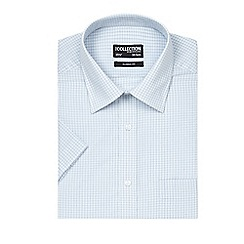 The Collection - Light blue mini checked shirt