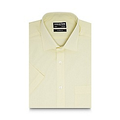 The Collection - Big and tall light yellow short sleeved regular fit shirt