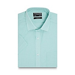 The Collection - Big and tall light green short sleeved regular fit shirt