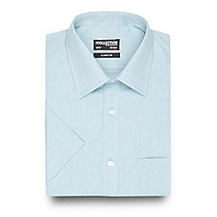 The Collection - Big and tall turquoise textured short sleeved shirt