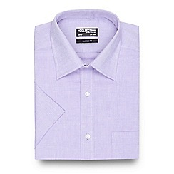 The Collection - Big and tall purple textured short sleeved shirt