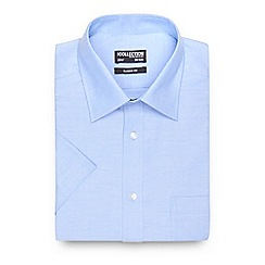 The Collection - Big and tall blue textured short sleeved shirt